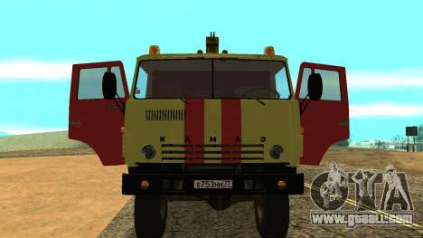 KAMAZ 43114 tow truck for GTA San Andreas back view
