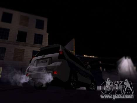 Toyota Land Cruiser POLICE for GTA San Andreas right view