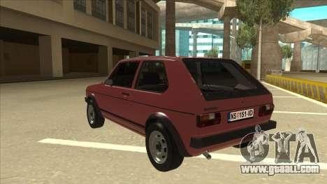 Volkswagen Golf 1 TAS for GTA San Andreas back view