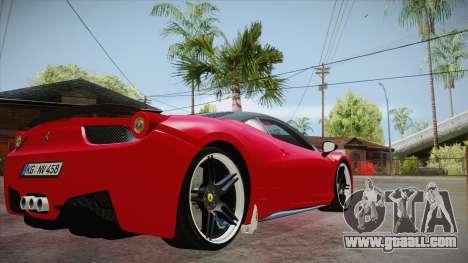 Ferrari 458 Italia Novitec Rosso 2012 v2.0 for GTA San Andreas right view
