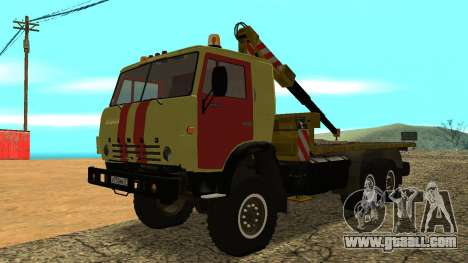 KAMAZ 43114 tow truck for GTA San Andreas