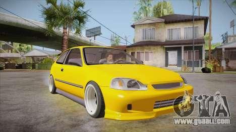 Honda Civic 1998 Tuned for GTA San Andreas back view