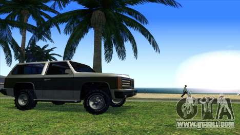 Rancher Bronco for GTA San Andreas back view