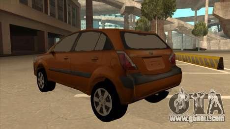 KIA RIO II 5 DOOR for GTA San Andreas back view