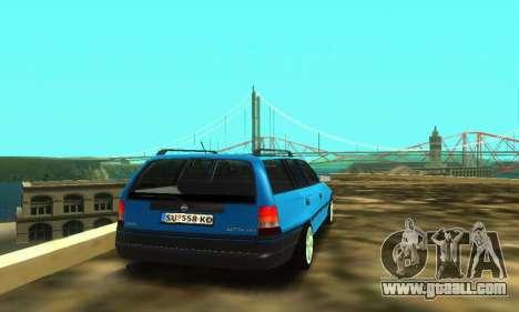 Opel Astra F Caravan for GTA San Andreas back view