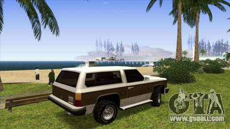 Rancher Bronco for GTA San Andreas back left view