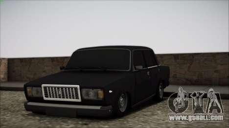 Vaz 2107 for GTA San Andreas bottom view