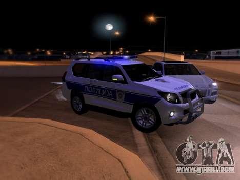 Toyota Land Cruiser POLICE for GTA San Andreas bottom view