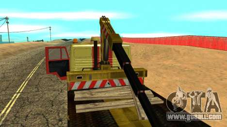 KAMAZ 43114 tow truck for GTA San Andreas upper view