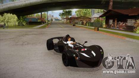 BAC Mono 2011 for GTA San Andreas inner view