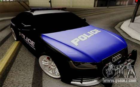 Audi RS5 2011 Police for GTA San Andreas