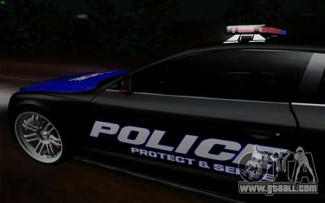 Audi RS5 2011 Police for GTA San Andreas back left view