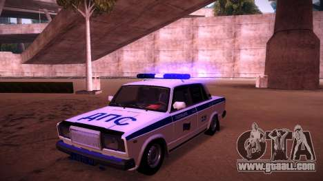 Vaz 2107 Police DPS for GTA San Andreas upper view