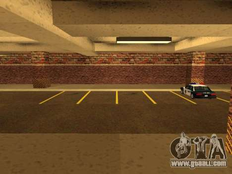 New interior police HP garage for GTA San Andreas second screenshot