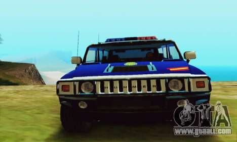 Hummer H2 G.E.O.S. for GTA San Andreas right view