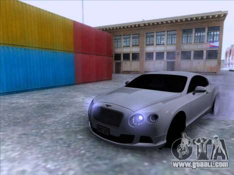 Bentley Continental GT Final 2011 for GTA San Andreas right view