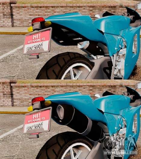 Ducati Desmosedici RR 2012 for GTA 4 inner view
