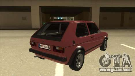 Volkswagen Golf 1 TAS for GTA San Andreas right view