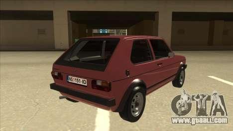 Volkswagen Golf 1 TAS for GTA San Andreas right view