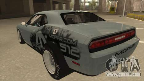 Dodge Challenger Drag Pak for GTA San Andreas back view