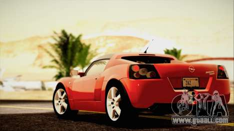 Opel Speedster Turbo 2004 for GTA San Andreas upper view