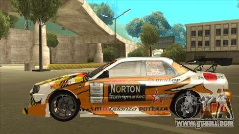 Nissan Skyline ER34 Uras GT Blitz 2010 for GTA San Andreas back view