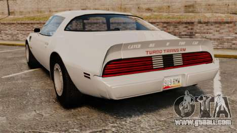 Pontiac Turbo TransAm 1980 for GTA 4 back left view