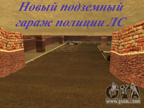 New interior police HP garage for GTA San Andreas