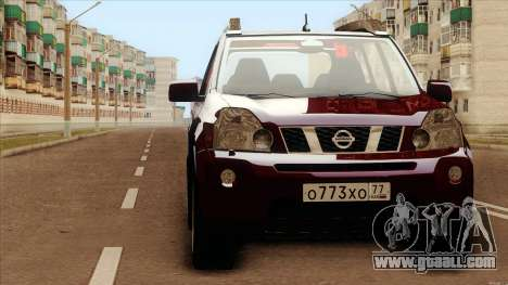 Nissan X-Trail 2009 for GTA San Andreas back left view