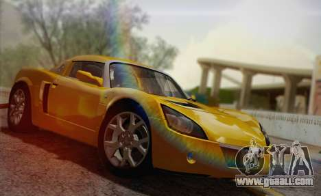 Vauxhall VX220 Turbo 2004 for GTA San Andreas upper view