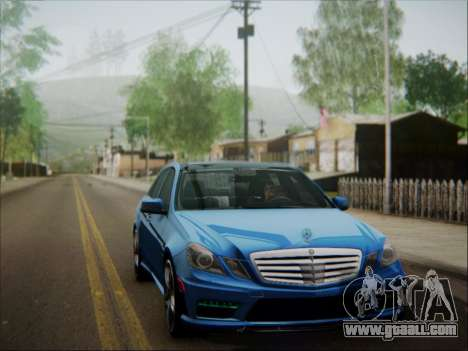 Mercedes-Benz E63 AMG 2010 for GTA San Andreas bottom view