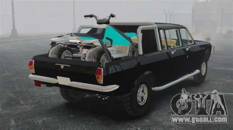 GAZ 2402-4 x 4 pickup truck for GTA 4 back left view