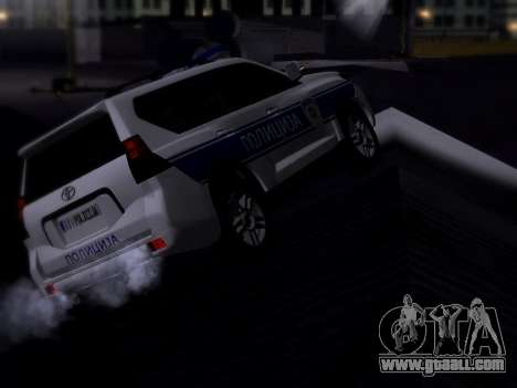 Toyota Land Cruiser POLICE for GTA San Andreas back left view