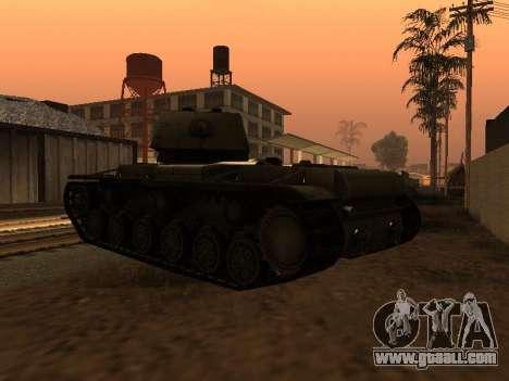 KV-1 for GTA San Andreas back left view