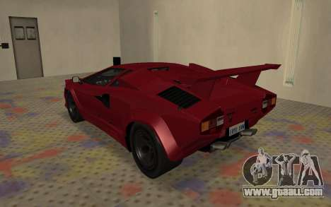 Lamborghini Countach LP5000 Extreme for GTA San Andreas right view