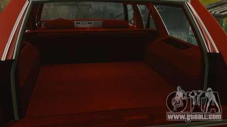 Chevrolet Caprice Wagon 1989 for GTA 4 inner view