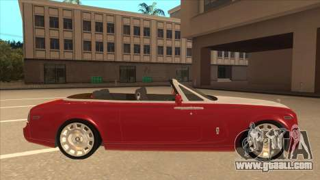 Rolls Royce Phantom Drophead Coupe 2013 for GTA San Andreas back left view