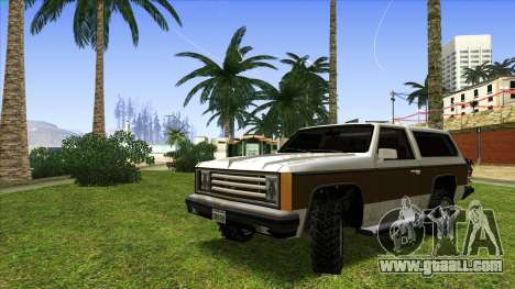 Rancher Bronco for GTA San Andreas left view