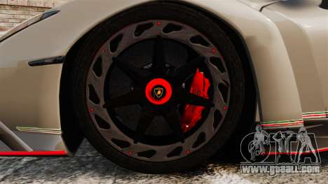 Lamborghini Veneno for GTA 4 back view