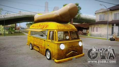 Hot Dog Van Custom for GTA San Andreas inner view