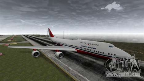 The Turkish Airlines aircraft for GTA 4 right view