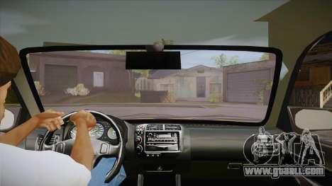 Honda Civic 1998 Tuned for GTA San Andreas inner view