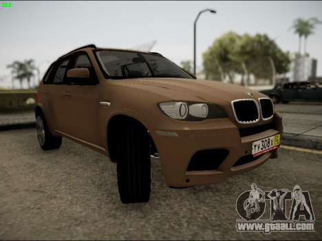 BMW X5M for GTA San Andreas back view