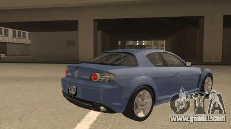 Mazda RX8 Tunable for GTA San Andreas right view