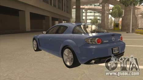 Mazda RX8 Tunable for GTA San Andreas back view