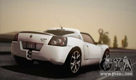 Vauxhall VX220 Turbo 2004 for GTA San Andreas left view