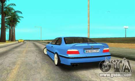 BMW M3 (E36) for GTA San Andreas back left view