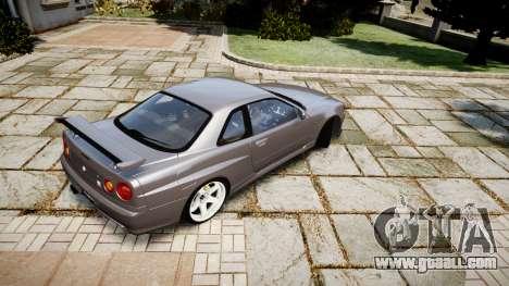 Nissan Skyline GTR-34 v1.0 for GTA 4 right view