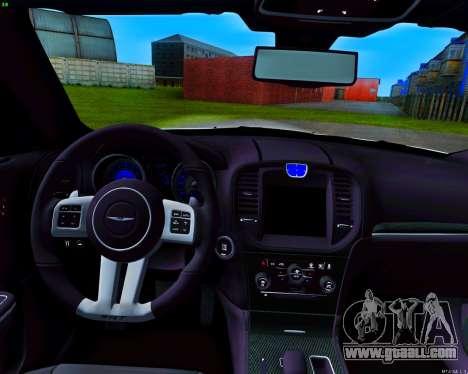 Chrysler 300 c SRT-8 MANSORY_CLUB for GTA San Andreas upper view