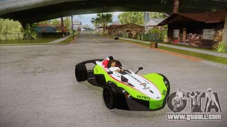 BAC Mono 2011 for GTA San Andreas bottom view